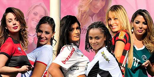 Beldades entram em campo no UOL para o concurso Gatas do Brasileirão